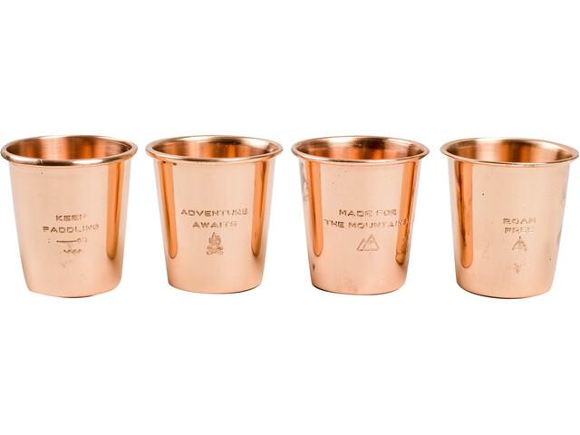 United By Blue Adventure Ensemble de gobelets en métal 4-pièces, copper